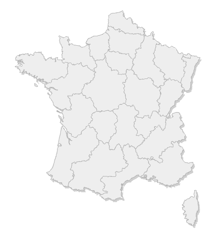 Carte des facile-sport de France